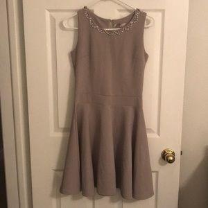 Embellished neckline dress
